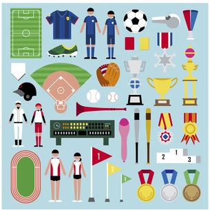 スポーツ表彰セットのイラスト素材 [FYI03060469]