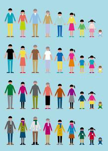 家族セット(オールシーズン)のイラスト素材 [FYI03060472]