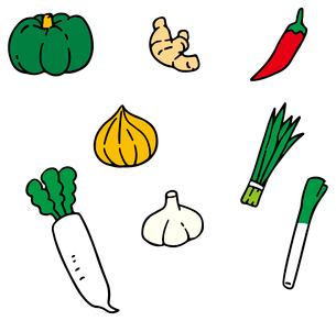 体をあたためる野菜のイラスト素材 [FYI03060495]