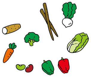 体をあたためる野菜のイラスト素材 [FYI03060497]