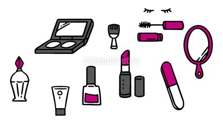 化粧品アイテムのイラスト素材 [FYI03060504]