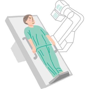 レントゲン検査を受ける患者のイラスト素材 [FYI03060516]