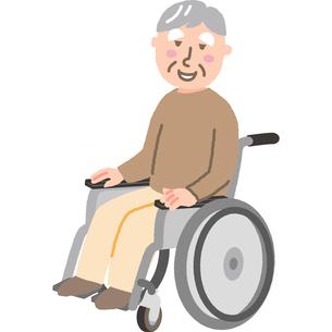 車いすの高齢男性のイラスト素材 [FYI03060519]