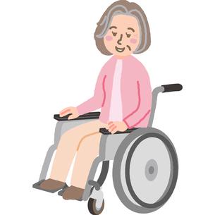 車いすの高齢女性のイラスト素材 [FYI03060520]