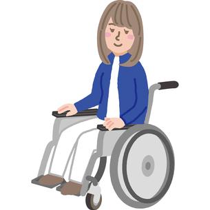 車いすの女性のイラスト素材 [FYI03060521]