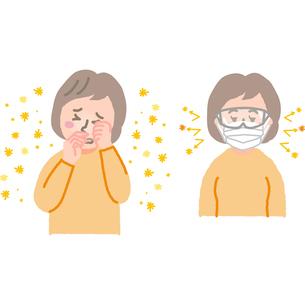 花粉症の女性のイラスト素材 [FYI03060564]