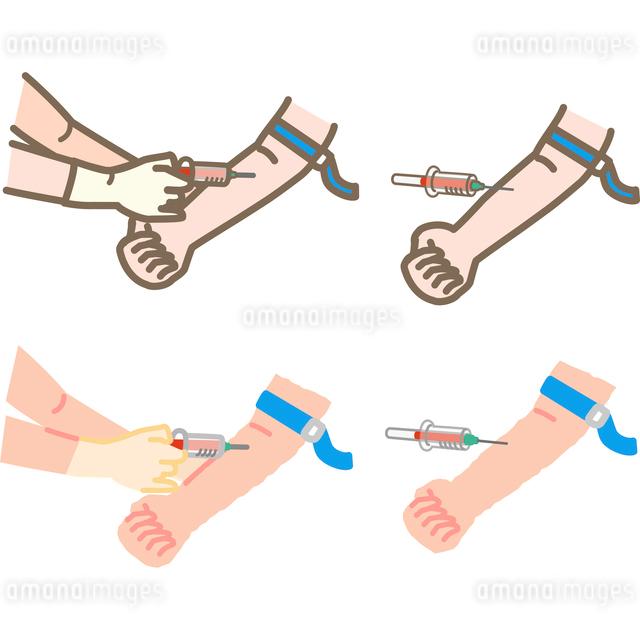採血と血液検査のイラストのイラスト素材 [FYI03060578]