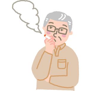 タバコを吸っている男性のイラスト素材 [FYI03060591]