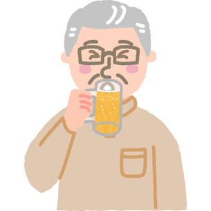 飲酒する男性のイラスト素材 [FYI03060595]