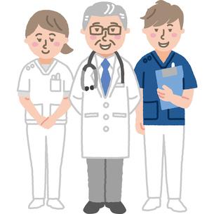 ベテラン医師と看護師のイラスト素材 [FYI03060626]