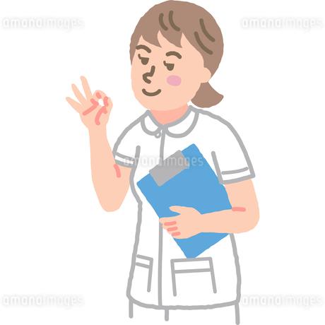 オーケーサインをする看護師のイラスト素材 [FYI03060628]