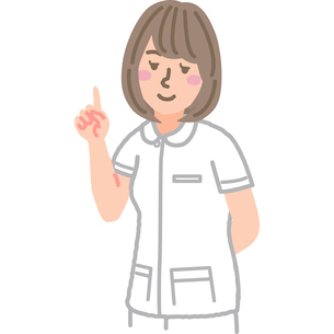 人差し指を立てている看護師のイラスト素材 [FYI03060632]