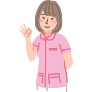 オーケーサインをする看護師のイラスト素材 [FYI03060633]