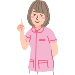 人差し指を立てている看護師のイラスト素材 [FYI03060634]