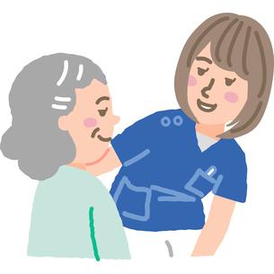 笑顔の看護師と患者のイラスト素材 [FYI03060635]