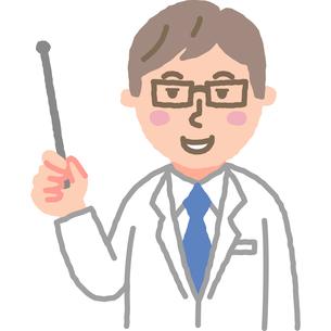 指し棒を持つ医師のイラスト素材 [FYI03060643]