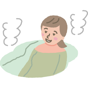 お風呂でリラックスする女性のイラスト素材 [FYI03060677]