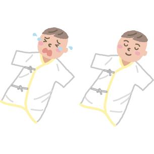寝ている赤ちゃんのイラスト素材 [FYI03060697]