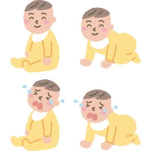 赤ちゃんのイラスト素材 [FYI03060699]
