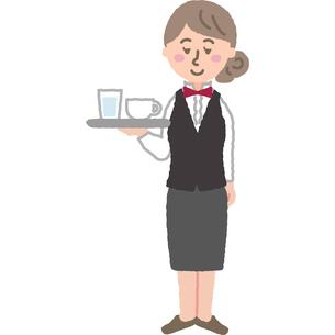 喫茶店のスタッフのイラスト素材 [FYI03060712]