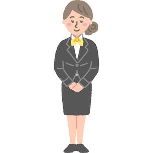 ホテルスタッフの女性のイラスト素材 [FYI03060713]
