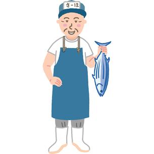 魚屋のおじさんのイラスト素材 [FYI03060716]
