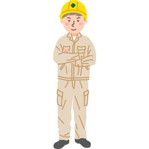 建設現場で働く作業員さんのイラスト素材 [FYI03060717]