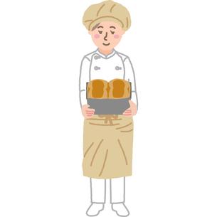 パン屋さんの女性のイラスト素材 [FYI03060719]