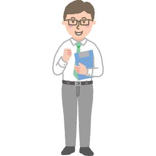 元気なビジネスマンのイラスト素材 [FYI03060722]