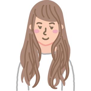ロングヘアの女性のイラスト素材 [FYI03060724]