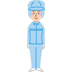 工場で働く女性のイラスト素材 [FYI03060725]