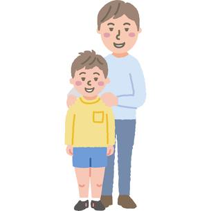 お父さんと息子のイラストのイラスト素材 [FYI03060741]