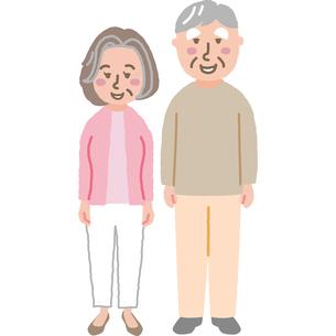 笑顔の老夫婦のイラスト素材 [FYI03060742]