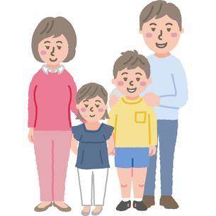 家族のイラストのイラスト素材 [FYI03060745]