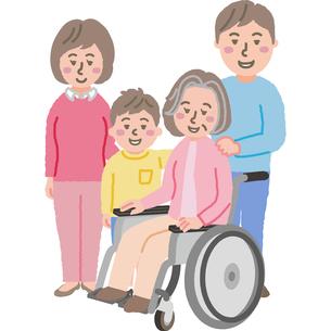 3世代家族のイラストのイラスト素材 [FYI03060746]