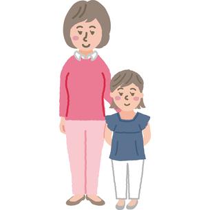 お母さんと娘のイラストのイラスト素材 [FYI03060747]