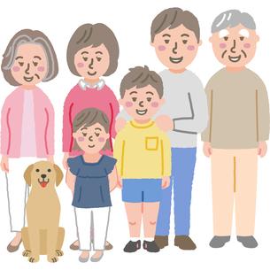 3世代家族のイラストのイラスト素材 [FYI03060748]