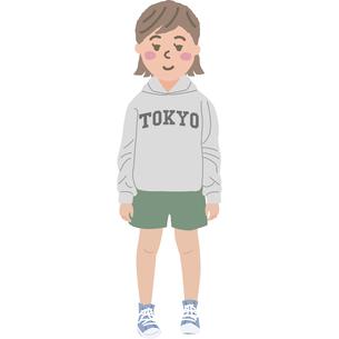 女の子のイラストのイラスト素材 [FYI03060763]