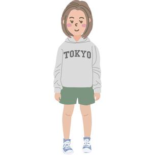 女の子のイラストのイラスト素材 [FYI03060776]