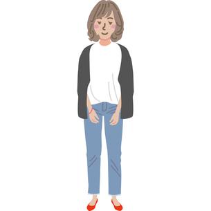 若い女性のイラストのイラスト素材 [FYI03060780]