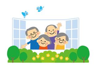 高齢者 介護 窓のイラスト素材 [FYI03060835]
