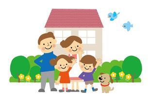 家と家族のイラスト素材 [FYI03060844]