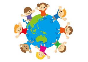 地球と子どもたちのイラスト素材 [FYI03060849]