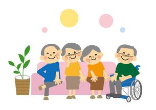 介護施設の高齢者のイラスト素材 [FYI03060862]