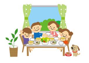 家族(親子) 食事のイラスト素材 [FYI03060878]