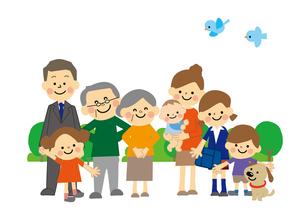 人々 家族のイラスト素材 [FYI03060886]