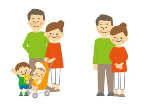 夫婦と家族のイラスト素材 [FYI03060898]