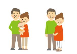 夫婦と家族のイラスト素材 [FYI03060900]