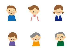 家族 6人のイラスト素材 [FYI03060908]