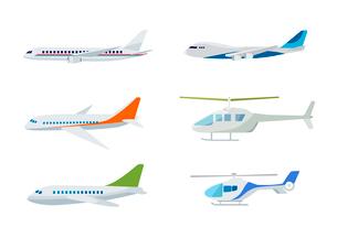飛行機とヘリコプターのイラスト素材 [FYI03060994]